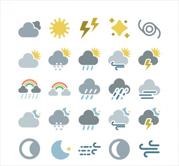 Free Weather Map Icons