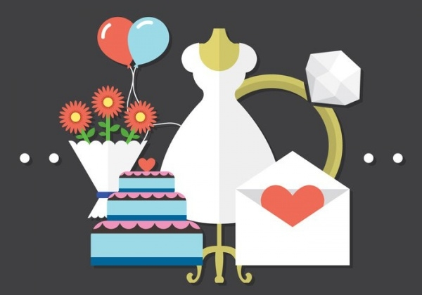 Free Wedding Vector Graphics