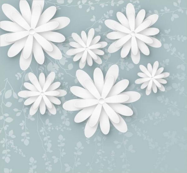 Free White Flower Background