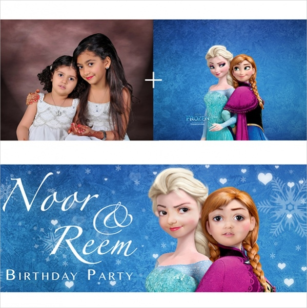 Frozen Happy Birthday Banner