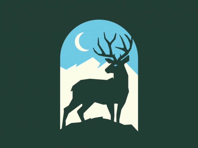 Fully Customizable Green Deer Silhouettes