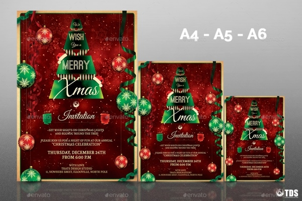 fully customized christmas invitation