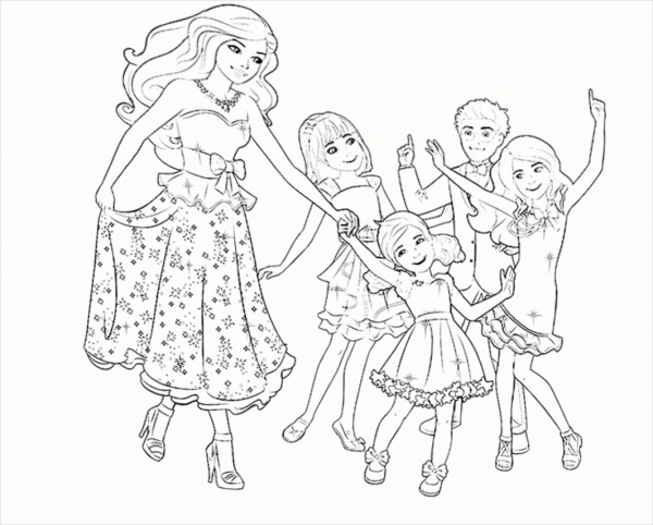 fully customized coloring page