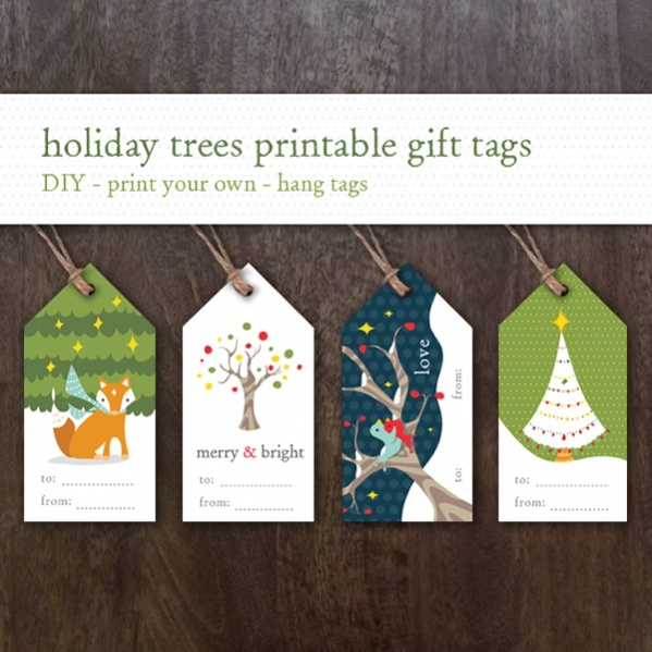 fully editable gift tag