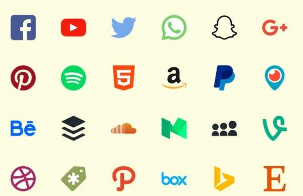 Fully customized Social Icons