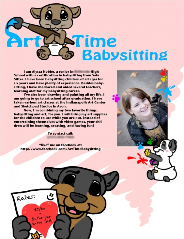 Funny Babysitting Flyer