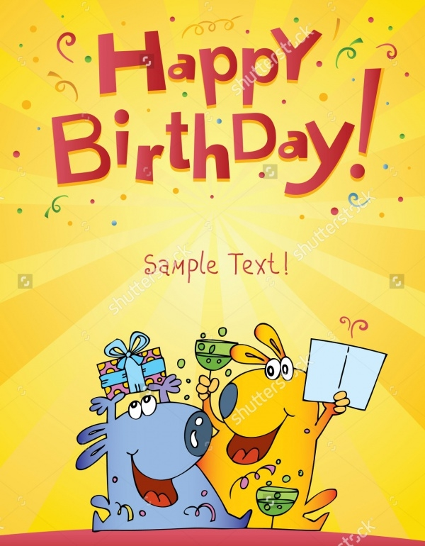 Funny Characters Birthday Card