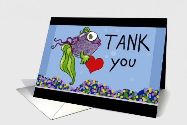 Funny Fish Tank Thank You Card