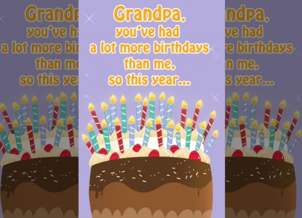 Funny Grandpa Birthday Card