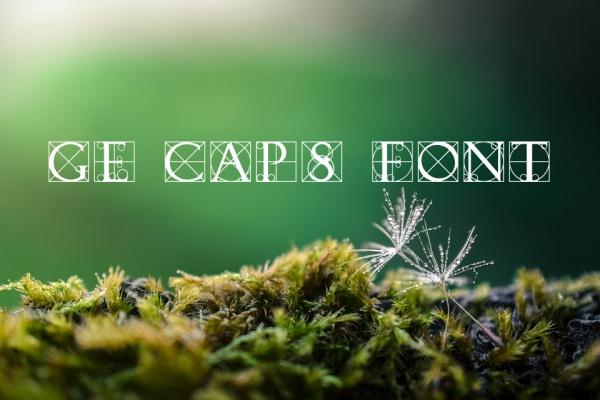 GE Typography Caps Font