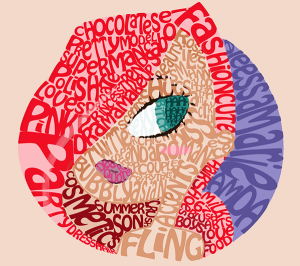 Girl digital Art Typography
