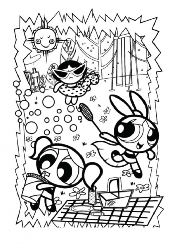 girls party coloring page2