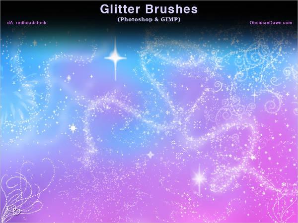 Glitter Brush Photoshop