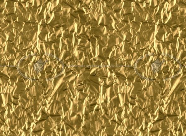 Gold Crumpled Foil Paper Texture