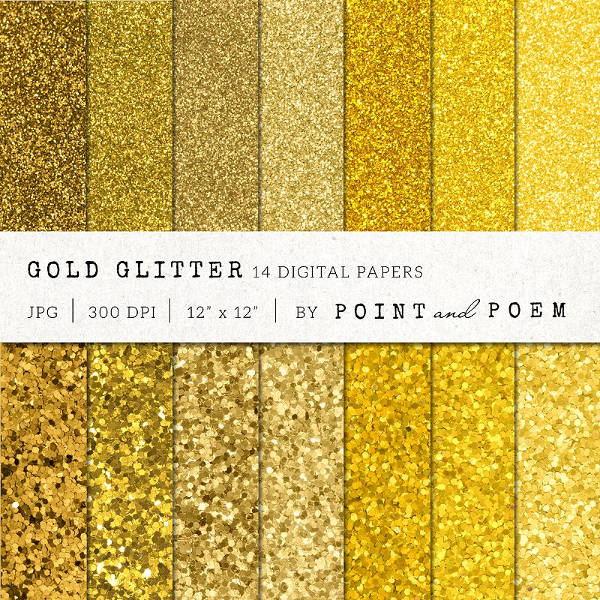 gold glitter textures pack