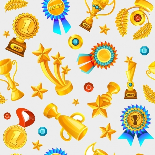 Gold Trophies Pattern
