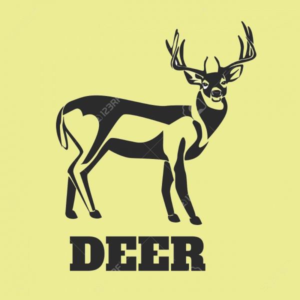 Gradient Deer Silhouette