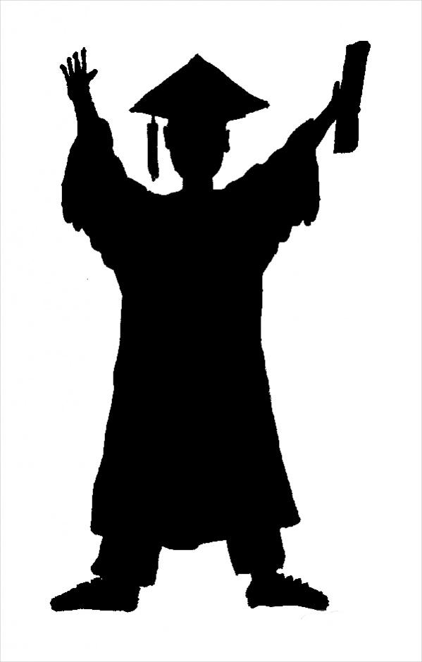 Graduate Silhouette Clip Art