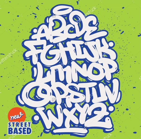 Graffiti Bubble Style Alphabet
