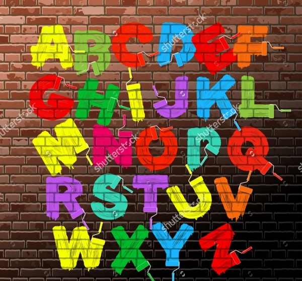 Graffiti Calligraphy Alphabet