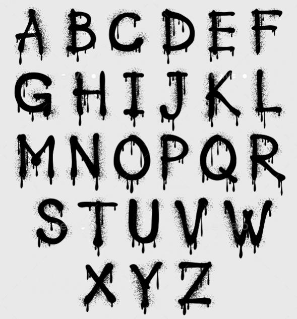 Graffiti Spalsh Vector Alphabet