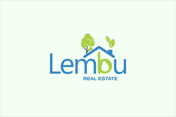 Green landing Real Estate Logo
