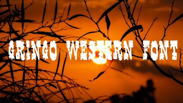 gringo western font