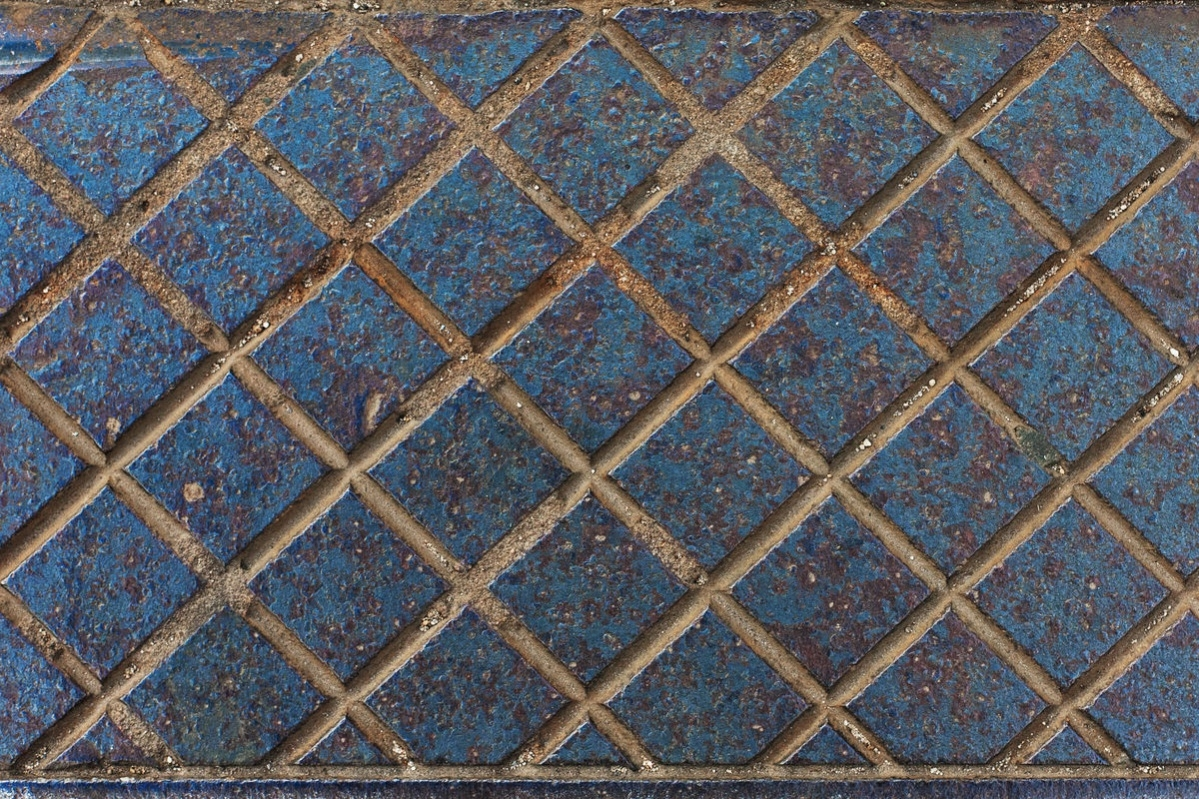 Grooved Blue Metal Texture