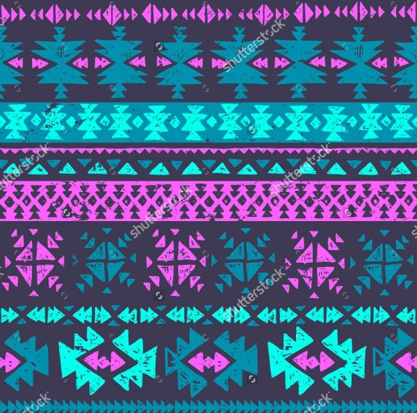 Grungy Aztec Pattern