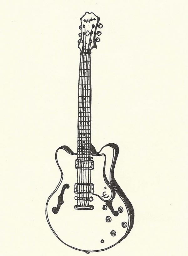 Guitar Music Drawing