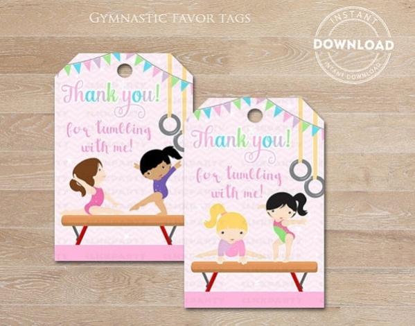 Gymnastics Gift Tags