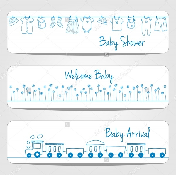 Hand Drawn Baby Shower Banners