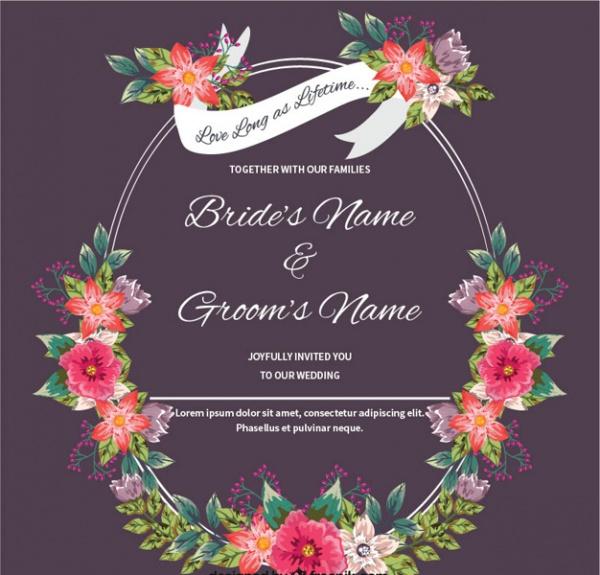 Hand Drawn Diy Wedding Invitation