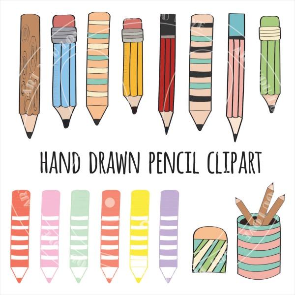 Hand Drawn Pencil Clipart