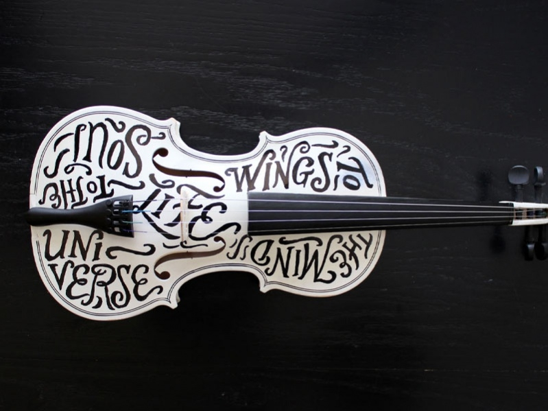 Hand Lettered Music Typography