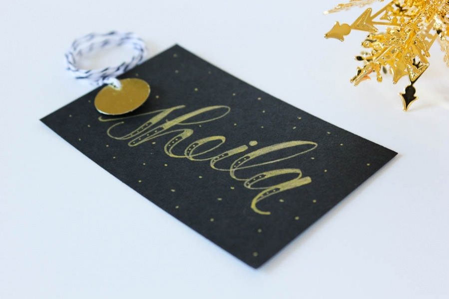 Hand Lettering Stationery Gift Tag