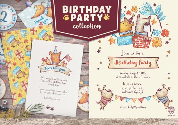 Hand Made Birthday Party Invitation
