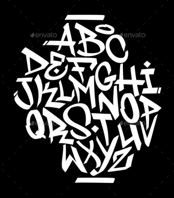 Hand Written Graffiti Alphabet