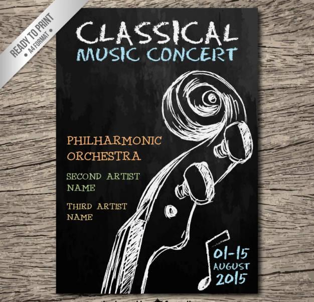 Hand Written Music Concert poster
