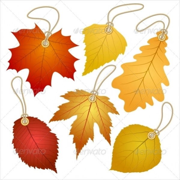 Hang Tag With Autumn Leaves
