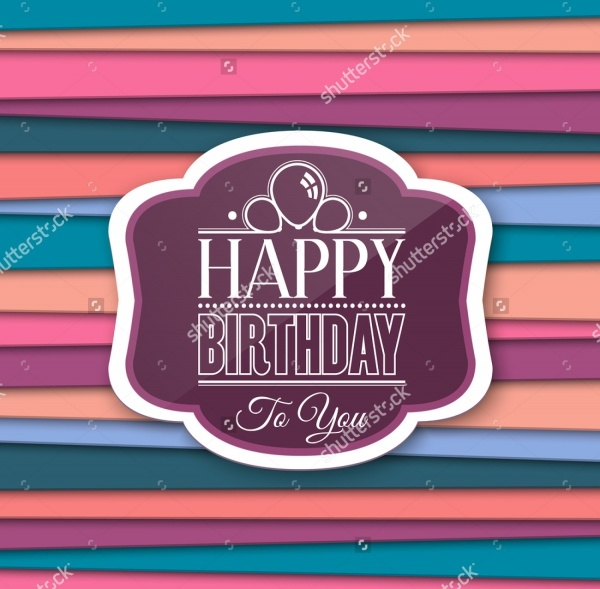 Happy Birthday Greetings with Label