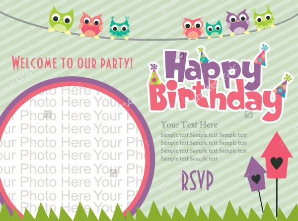 Happy Birthday Photo Invitation