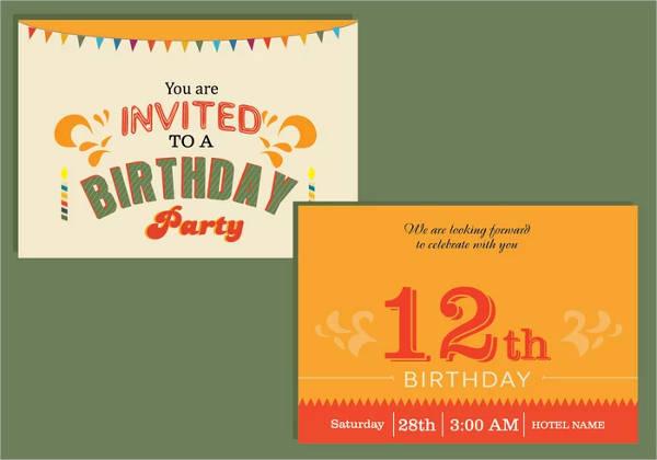 Happy birthday card invitation