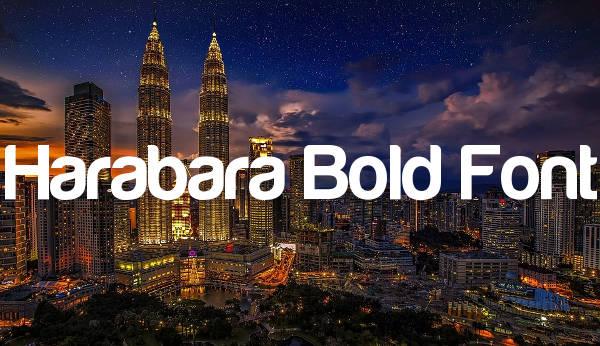 Harabara Bold Font