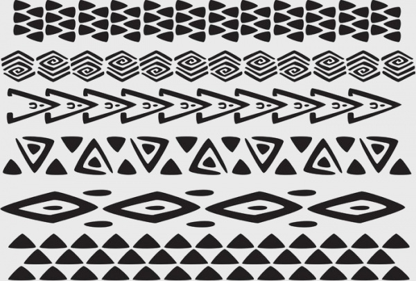 Hawaiian Tribal Borders Pattern