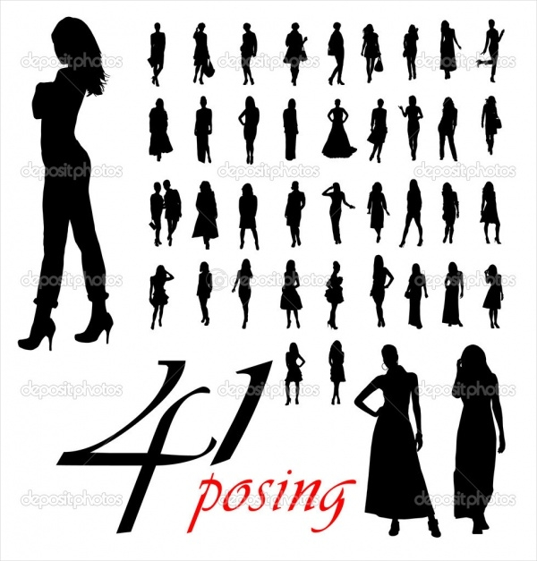 High Quality Woman Silhouettes