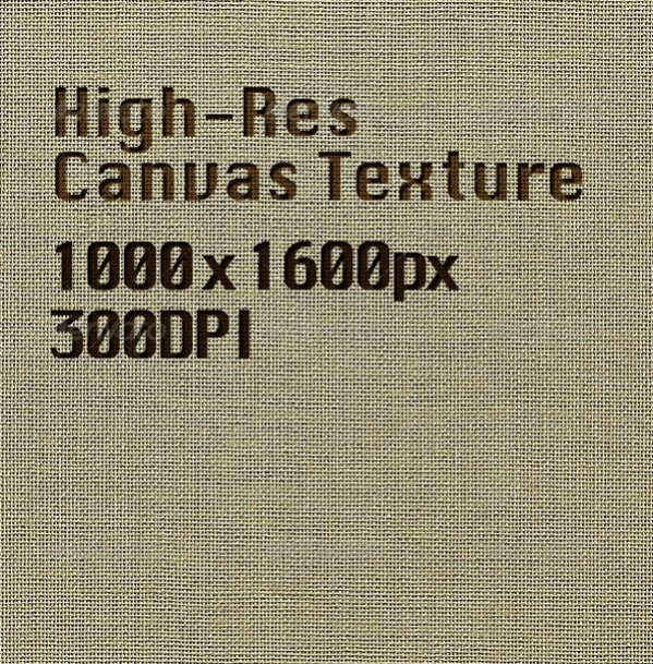 High-Res Canvas Texture