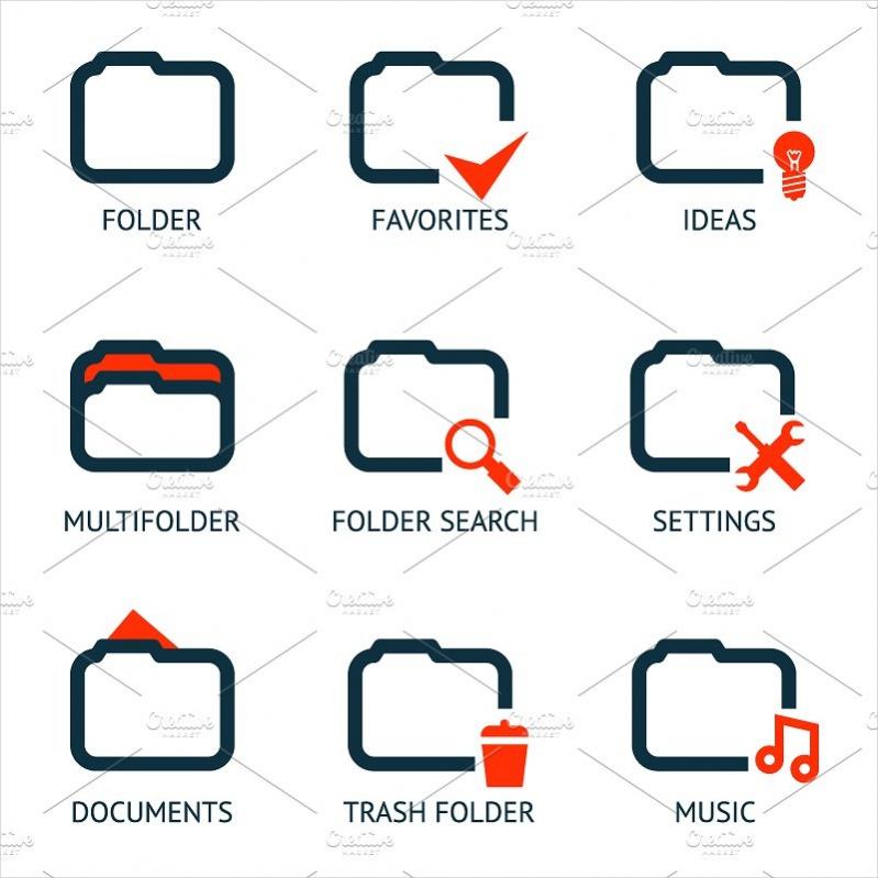 High Resolution App Folder Icons