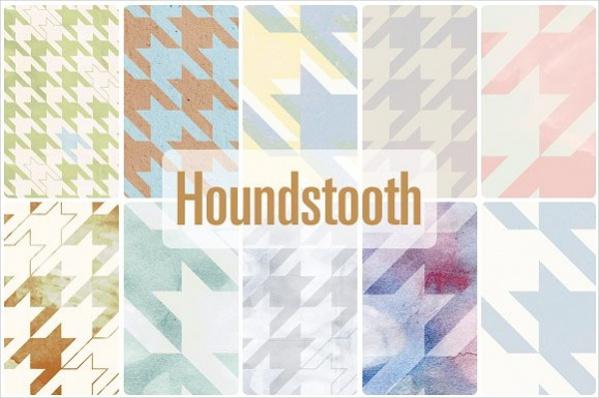 High Resolution Houndstooth Pattern