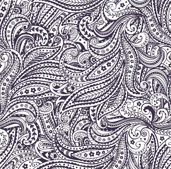 High Resolution Paisley Pattern Design